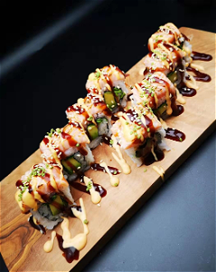 Foto Flamed salmon maki  4st